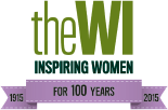 Women's Institute logo with purple banner saying 100 years